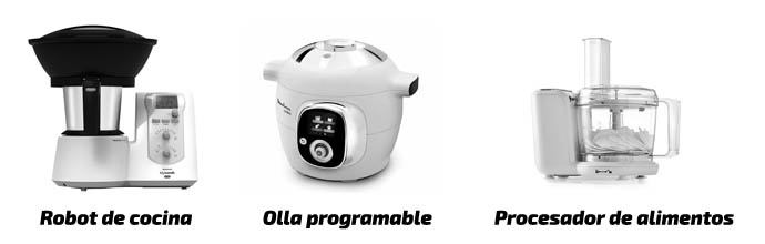 Diferencias entre un robot de cocina con una olla programable o un procesador de alimentos
