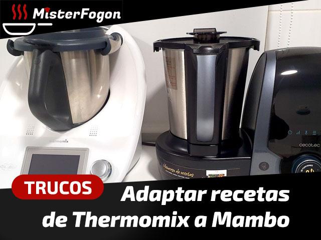 Como adaptar recetas de Thermomix a Mambo